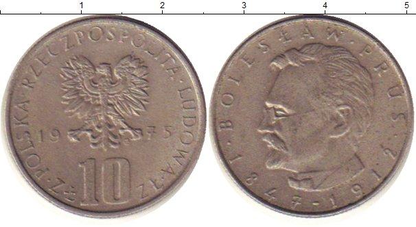 Картинка Дешевые монеты Польша 10 злотых Медно-никель 1975