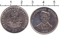 Изображение Барахолка Гаити 20 сантимов 1995 Медно-никель XF