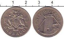 Изображение Дешевые монеты Барбадос 25 центов 1987 Медно-никель XF