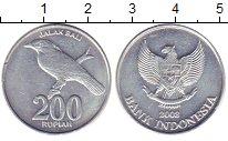 Изображение Дешевые монеты Индонезия 200 рупий 2008 Алюминий XF
