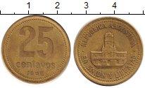 Изображение Дешевые монеты Аргентина 25 сентаво 1992 Латунь XF