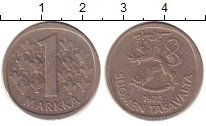 Изображение Барахолка Финляндия 1 марка 1972 Алюминий XF
