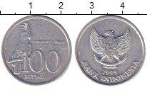 Изображение Барахолка Индонезия 100 рупий 1999 Алюминий XF