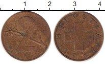 Изображение Дешевые монеты Швейцария 2 раппа 1957 Бронза XF