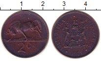 Изображение Барахолка ЮАР 2 цента 1971 Медь XF-