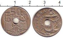Изображение Барахолка Испания 50 сентимо 1949 Медно-никель XF
