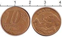 Изображение Дешевые монеты Бразилия 10 сентаво 2007 Латунь XF