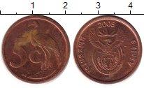 Изображение Барахолка ЮАР 5 центов 2008 Латунь XF