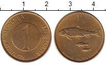 Изображение Барахолка Словения 1 толар 2001 Латунь XF