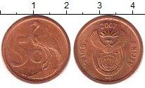 Изображение Барахолка ЮАР 5 центов 2007 Латунь XF