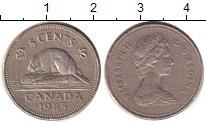 Изображение Дешевые монеты Канада 5 центов 1985 Медно-никель XF