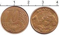 Изображение Барахолка Бразилия 10 сентаво 2007 Латунь XF