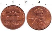 Изображение Дешевые монеты США 1 цент 2010 Латунь XF
