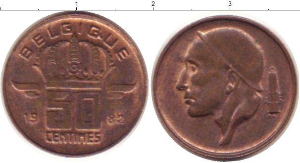 Картинка Дешевые монеты Бельгия 50 сантим Латунь 1985
