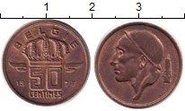 Изображение Дешевые монеты Бельгия 50 сантим 1977 Латунь XF
