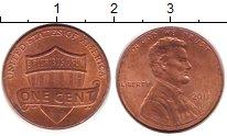 Изображение Дешевые монеты США 1 цент 2011 Латунь XF