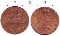Изображение Дешевые монеты США 1 цент 2011 Медь XF