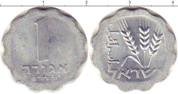 Картинка Дешевые монеты Израиль 1 агор Алюминий 1974