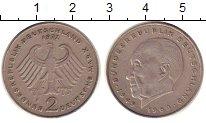 Изображение Монеты ФРГ 2 марки 1972 Медно-никель XF