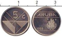 Изображение Монеты Аруба 5 центов 1988 Медно-никель XF