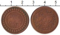 Изображение Монеты Тунис 5 сантим 1917 Медь VF