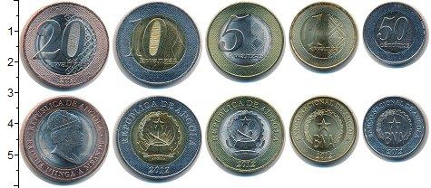 Изображение Наборы монет Ангола Ангола 2012-2014 0  UNC- В наборе 5 монет ном