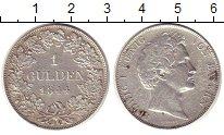 Изображение Монеты Бавария 1 гульден 1844 Серебро XF- Людвиг I