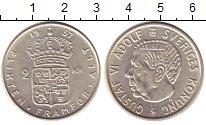 Изображение Монеты Швеция 2 кроны 1957 Серебро UNC-