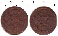 Изображение Монеты Швеция 1/6 эре 1666 Медь VF