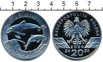 Изображение Монеты Польша 20 злотых 2004 Серебро Proof Морская  свинья.
