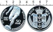 Изображение Монеты Ниуэ 50 долларов 1990 Серебро Proof