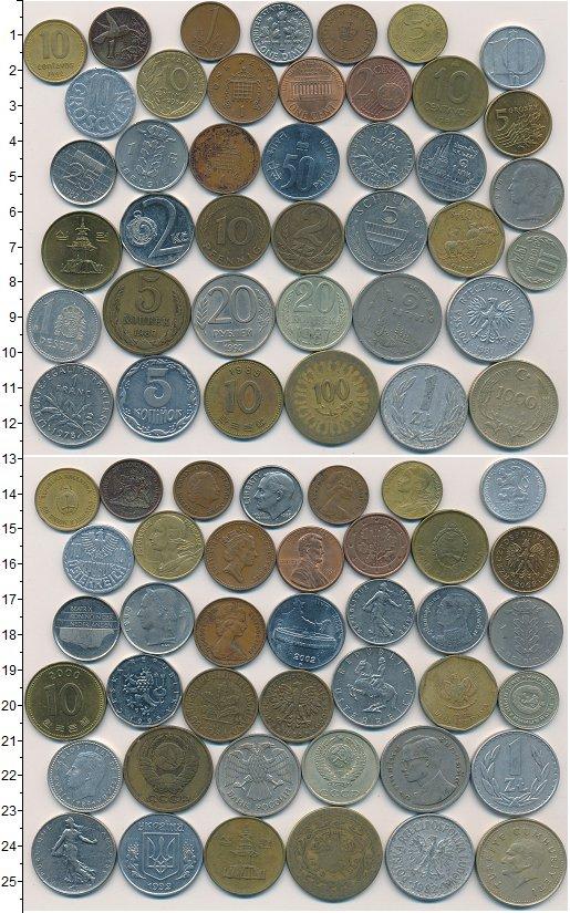 Изображение Лоты монет для начинающих нумизматов Монеты стран мира Лот №01254 0