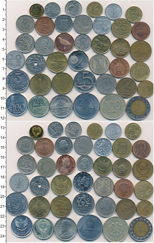Изображение Лоты монет для начинающих нумизматов Монеты стран мира Лот №01255 0