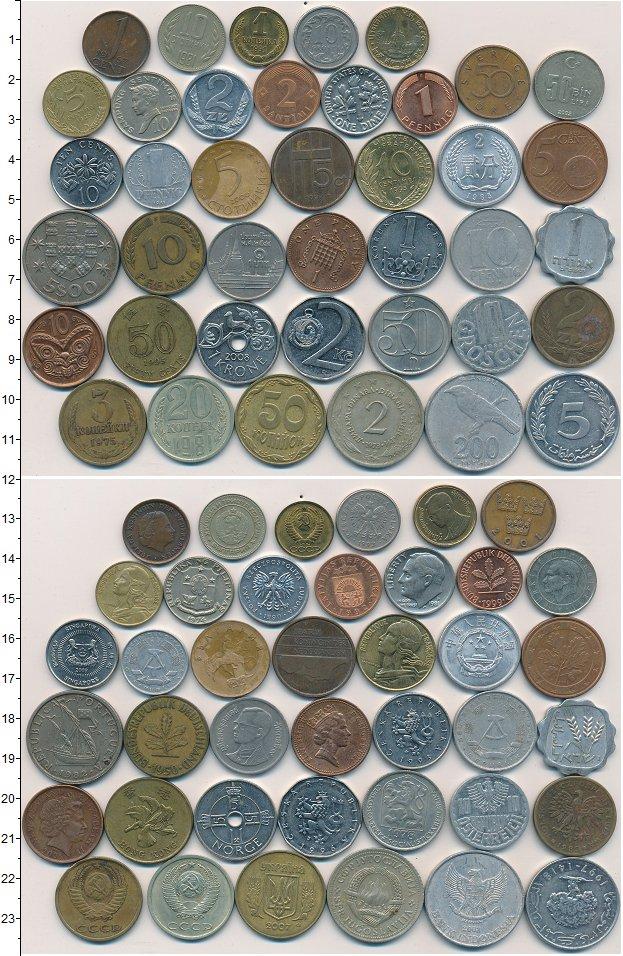 Изображение Лоты монет для начинающих нумизматов Монеты стран мира Лот №01260 0