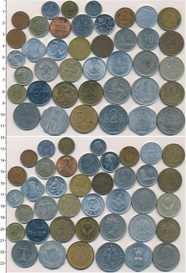 Изображение Лоты монет для начинающих нумизматов Монеты стран мира Лот №01261 0