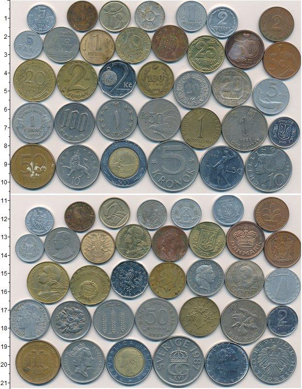 Изображение Лоты монет для начинающих нумизматов Монеты стран мира Лот №01266 0