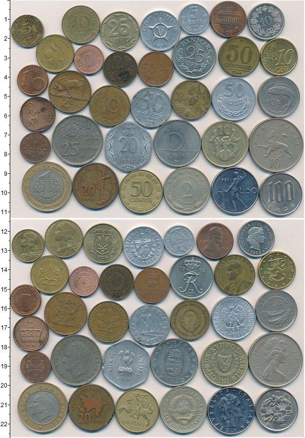 Изображение Лоты монет для начинающих нумизматов Монеты стран мира Лот №01267 0