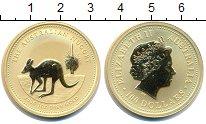 Изображение Монеты Австралия 100 долларов 2005 Золото Proof- Елизавета II. Кенгур