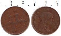 Изображение Монеты Франция 5 сентим 1917 Бронза XF