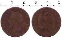 Изображение Монеты Франция 5 сентим 1854 Бронза VF