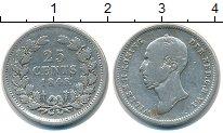 Изображение Монеты Нидерланды 25 центов 1848 Серебро VF Вильгельм II