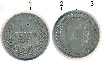 Изображение Монеты Нидерланды 10 центов 1859 Серебро VF Король  Виллем III.