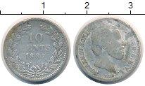 Изображение Монеты Нидерланды 10 центов 1887 Серебро VF Король  Виллем III.