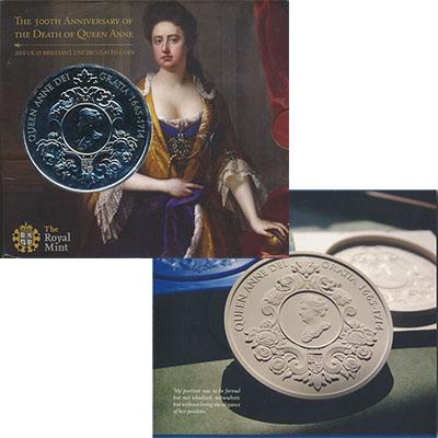 Изображение Подарочные наборы Великобритания Королева Анна 2015 Медно-никель BUNC