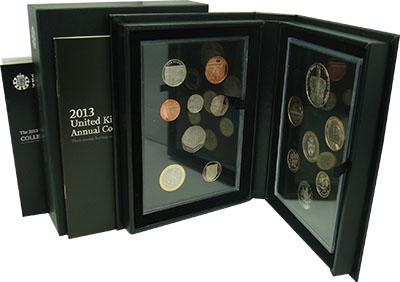 Изображение Подарочные монеты Великобритания Набор 2013 года 2013  Proof `В набор входят 15 м