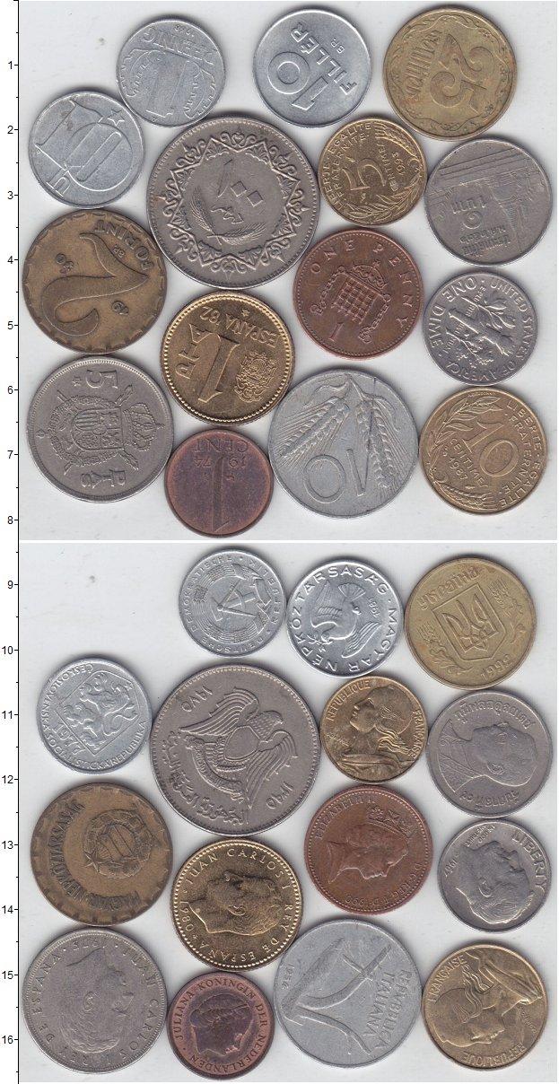 Изображение Лоты монет для начинающих нумизматов Монеты стран мира Лот №01271 0