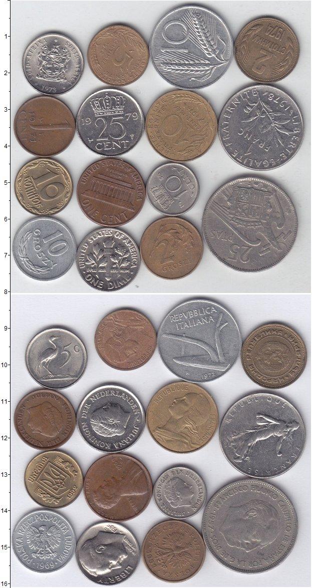 Изображение Лоты монет для начинающих нумизматов Монеты стран мира Лот №01272 0