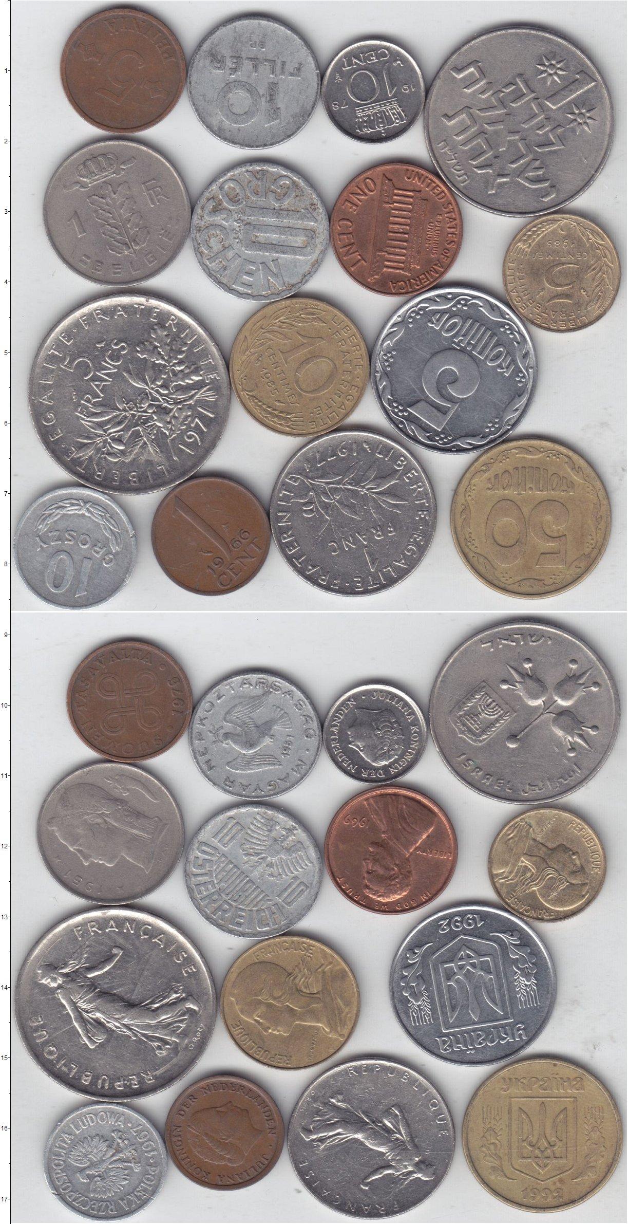 Картинка Лоты монет для начинающих нумизматов Монеты стран мира Лот №01274  0