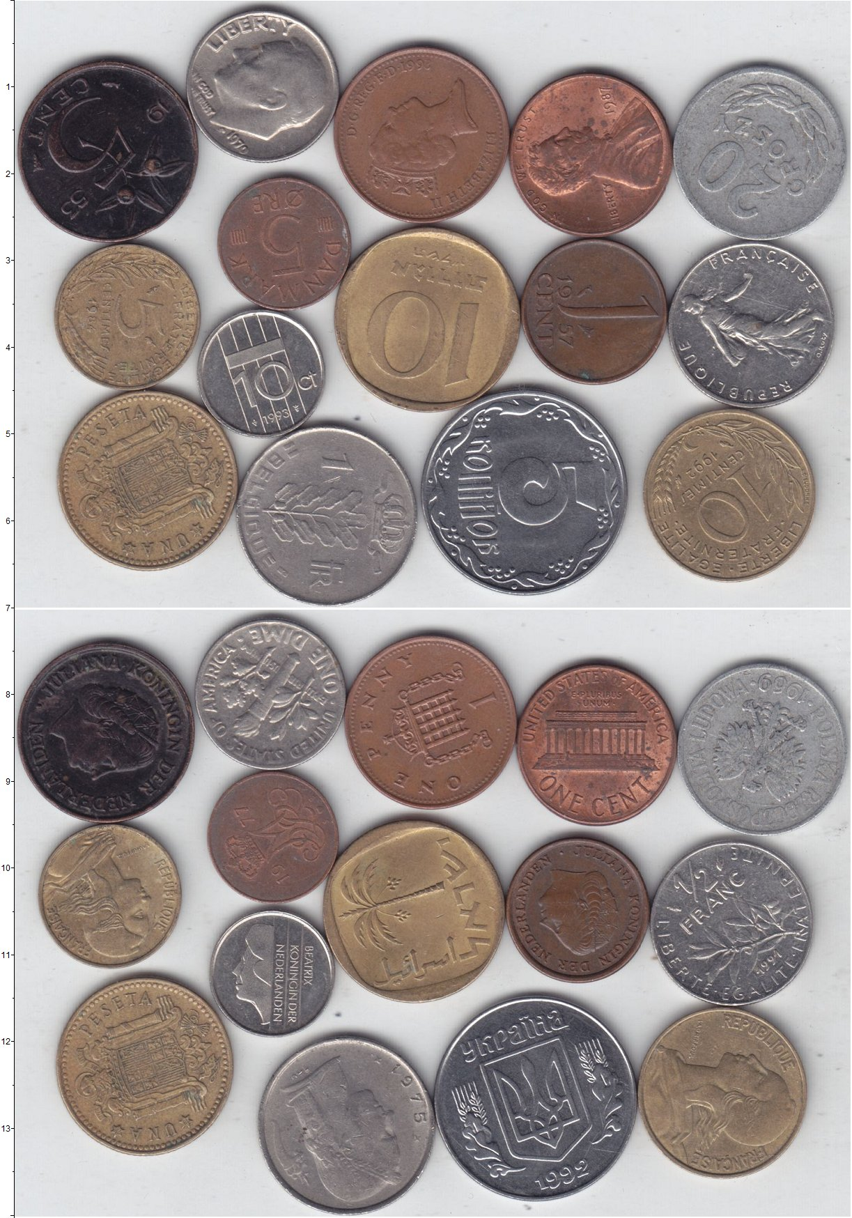 Картинка Лоты монет для начинающих нумизматов Монеты стран мира Лот №01275  0