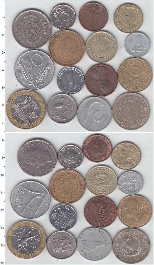 Изображение Лоты монет для начинающих нумизматов Монеты стран мира Лот №01278 0